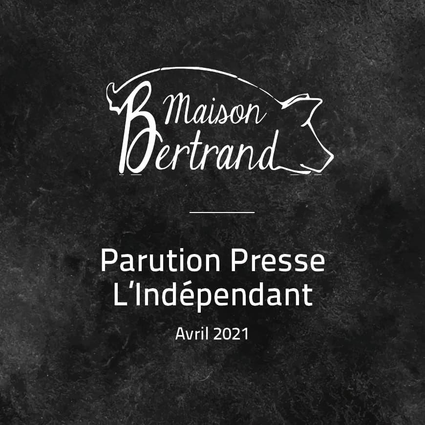 Parution Presse dans L'Indépendant du 3 avril 2021